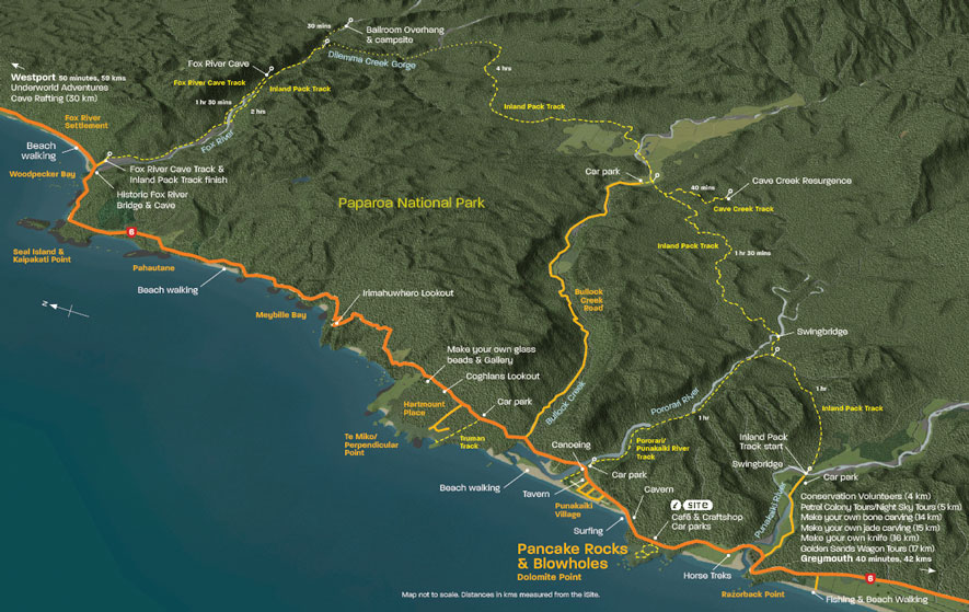 Punakaiki map 2013